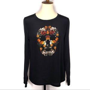 Equipment 100% Silk Liam Skull Floral Print Blouse
